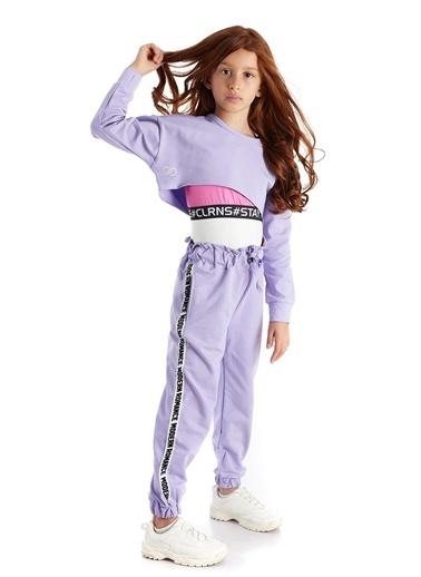 Colorinas Modern Romance Şeritli Pantolon Lila